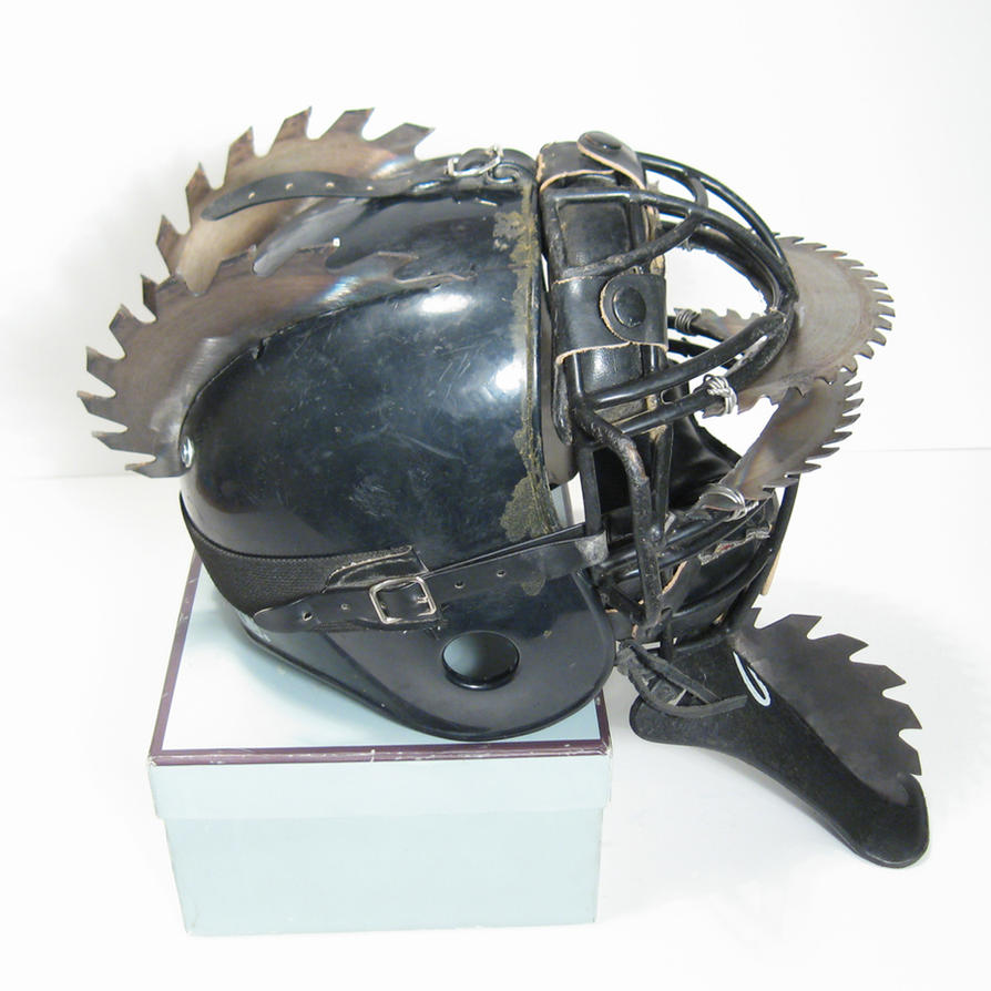 Wasteland Raider Saw Helmet by swanboy