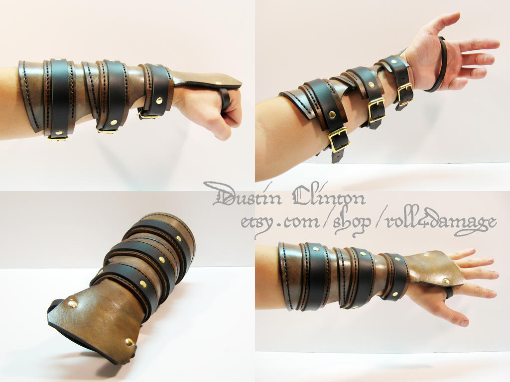 Leather Steampunk Bracer by swanboy