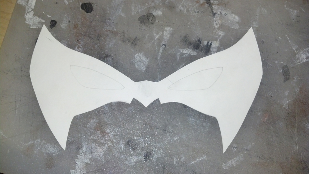 New 52 Nightwing Mask Pattern by swanboy on DeviantArt
