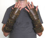 Carapace Bracers with buckle straps