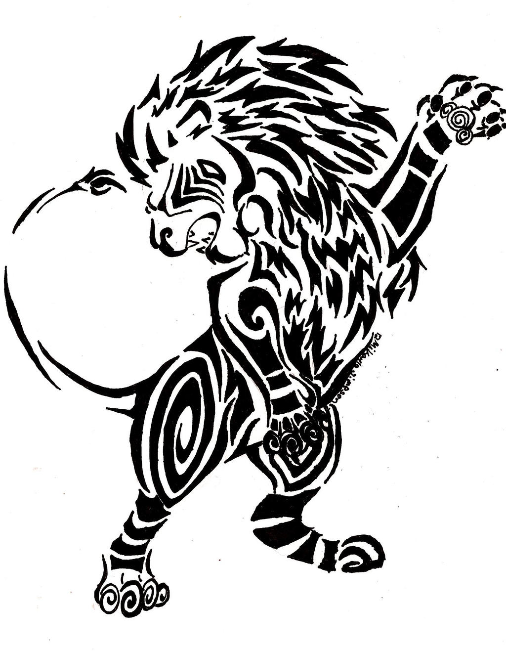 Lion Tribal by Windicious on DeviantArt