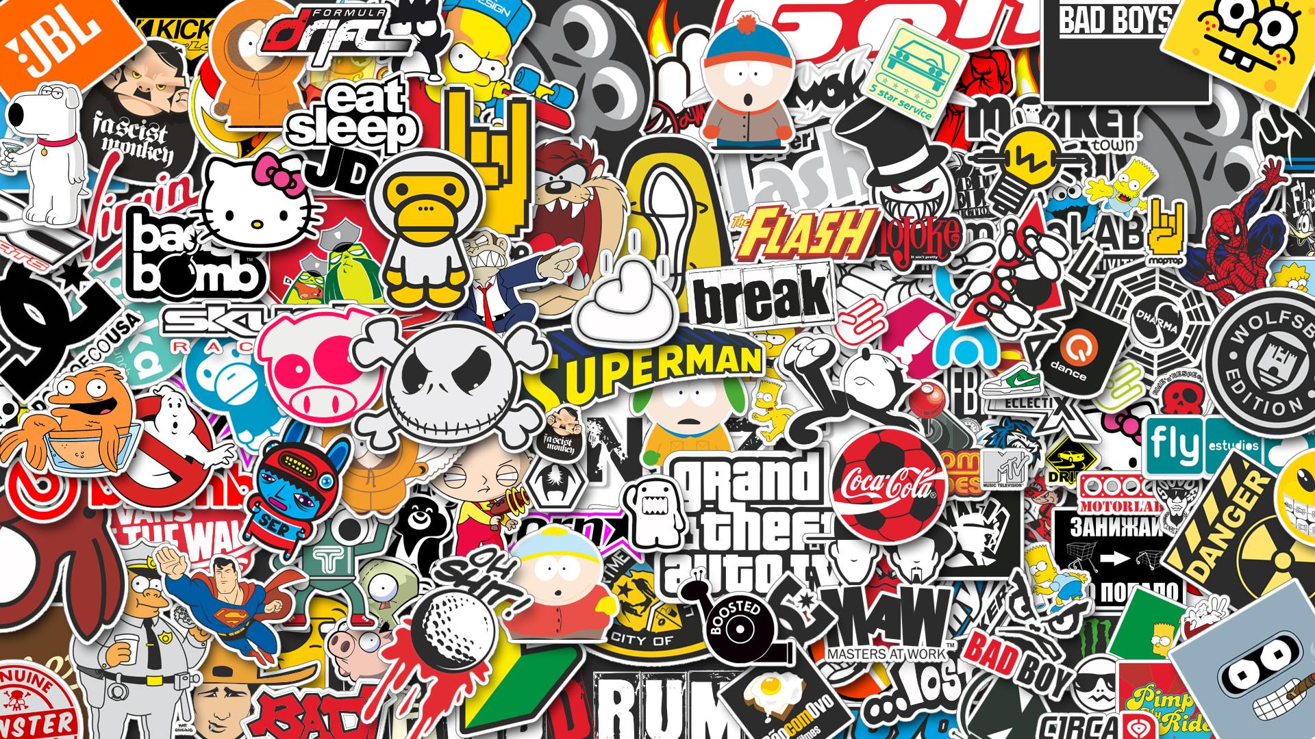 Sticker bomb dans le genre http fc05 deviantart net fs71 f 2012 320 f 6 stickerbomb by vicing d5l6d3o jpg