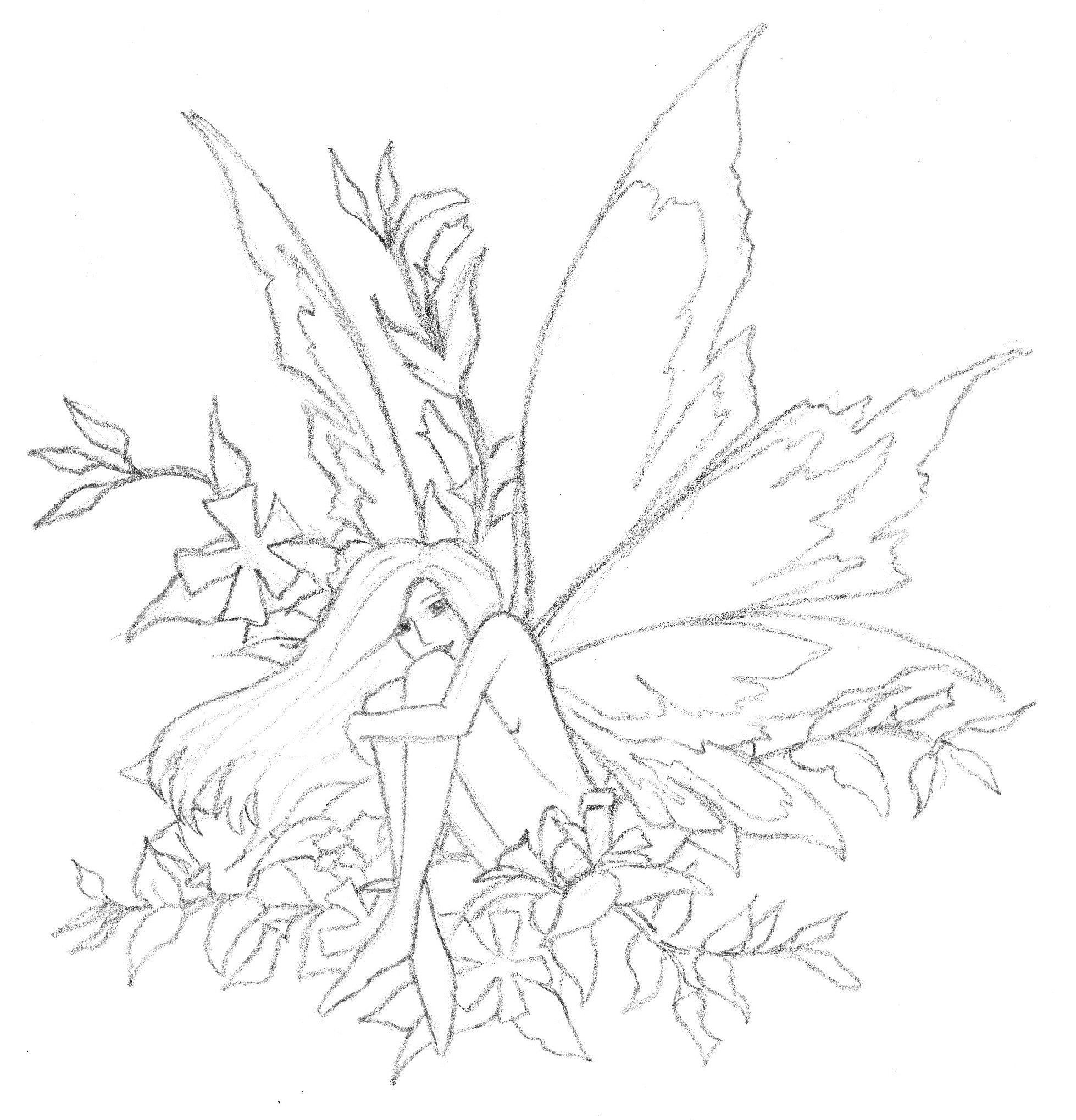 Line Drawing Earth : Earth fairy line by satinrose on deviantart