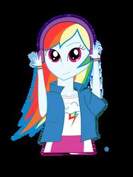 Rainbow Dash-My Little Pony Equestria Girls by PrincessMagneticRose