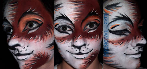 Pouncival Face Paint by XxShoneSoBrightly