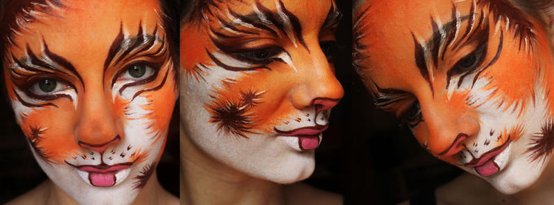 Calico face paint by XxShoneSoBrightly