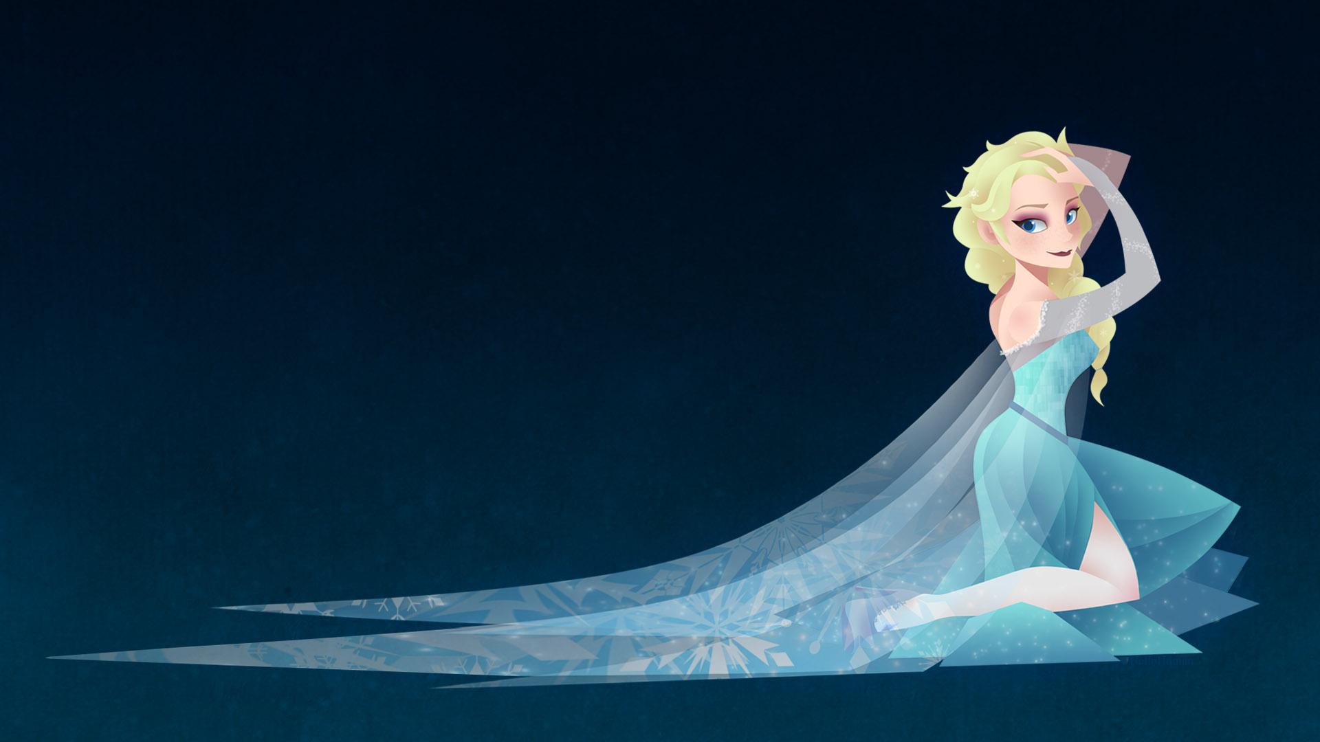 Elsa Wallpaper By NalinSketch