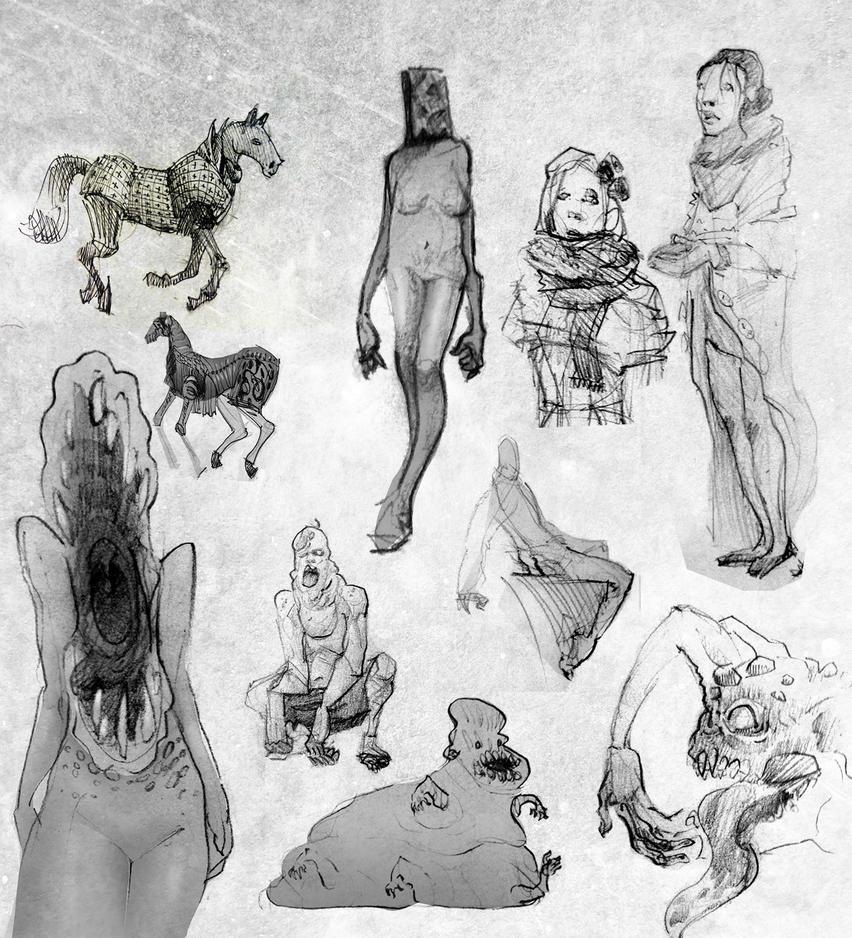 Sketchbook madness by Karollos