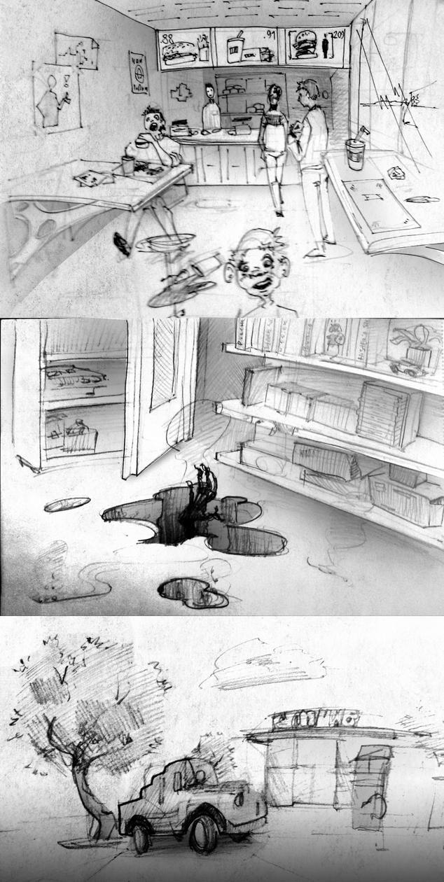 Sketchbook madness p2 by Karollos