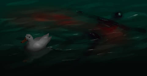 Evil Duck - spitpaint by Karollos