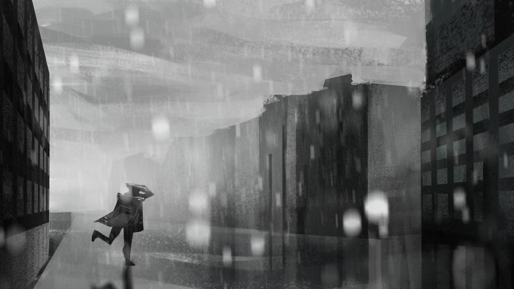Running From The Rain - speedpaint by Karollos