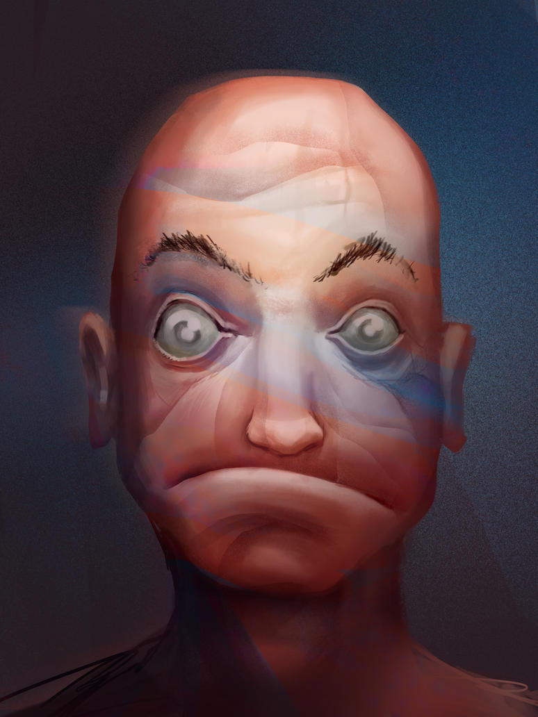 Bald dude by Karollos