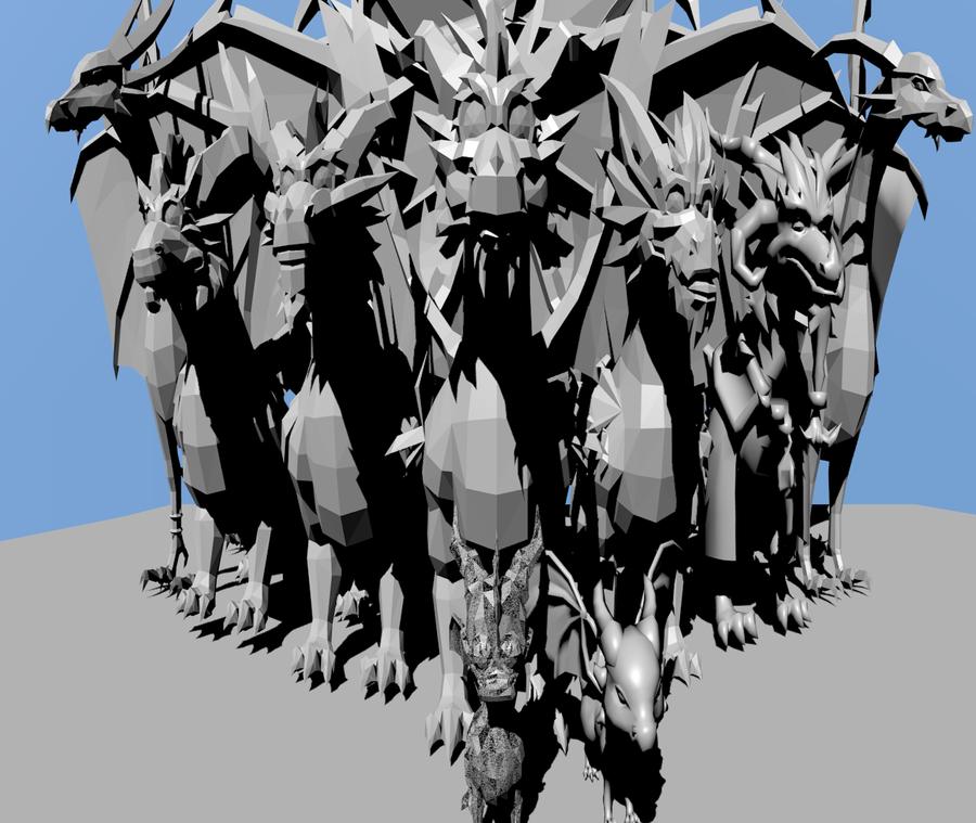 All dragon on Spyro 3D by DebiTheFox