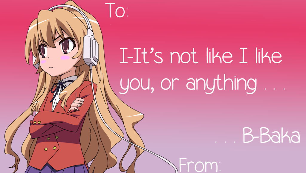 Tsundere Valentines Card by SeoulMate on DeviantArt
