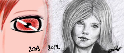 Three years of drawing