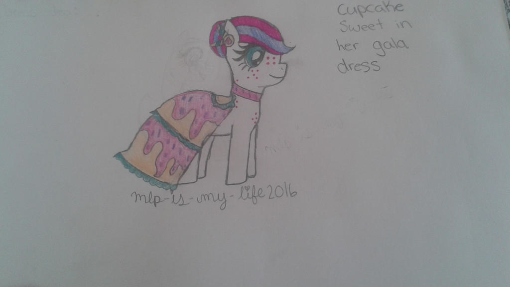 Cupcake Sweet in her gala dress by Mlp-is-my-life2016