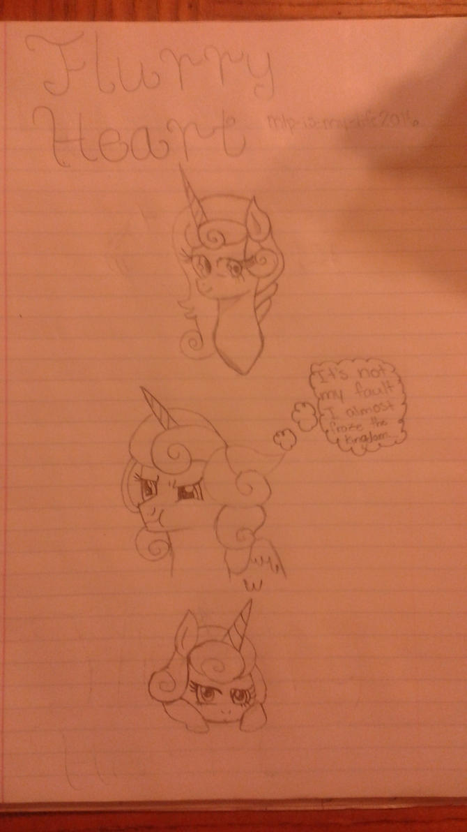 Flurry Heart Doodles by Mlp-is-my-life2016