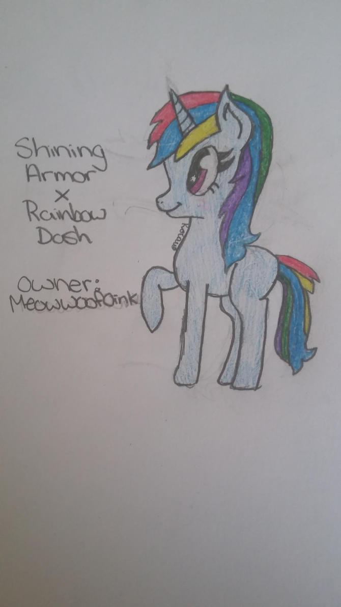 Shining Armor x Rainbow Dash adopt for Meowwoofoin by Mlp-is-my-life2016