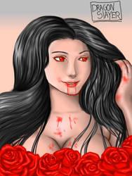 Vampire Girl by DragonSlayerDraw