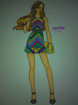 Croquis - raibow dress