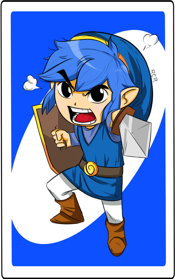 Blue Link - UNO card by RCR2895