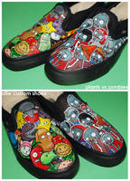 Plants vs Zombies Shoes by ectomurf