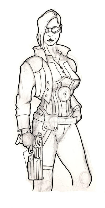 Steam Punk investigator by Belabras