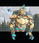 Esh, robot and city