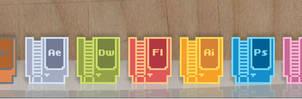 8 Bit Adobe Icons