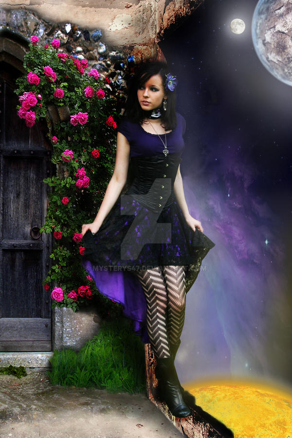 Violet Gothic Girl by Mysterys47