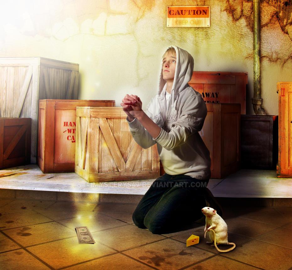 Praying Warehouseworker by Mysterys47