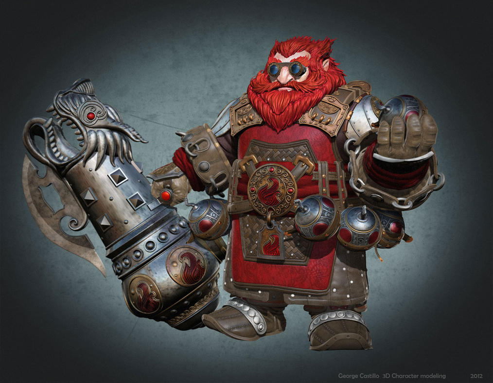 Dwarf Master of Fire by Karonto