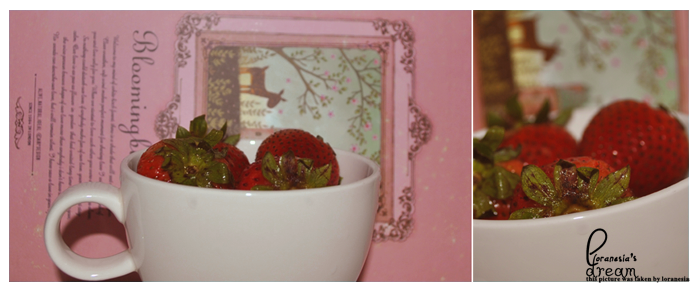 cup of strawberry . . by loranesia
