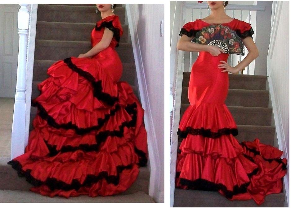 bfa2a503d4f7f Spanish Dancer Flamenco dress 2 by EtaniaVII on DeviantArt