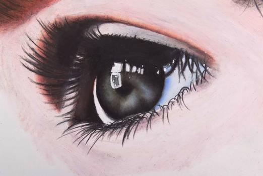 Eye of a child