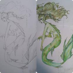 deep sea mermaid by IdaBlack