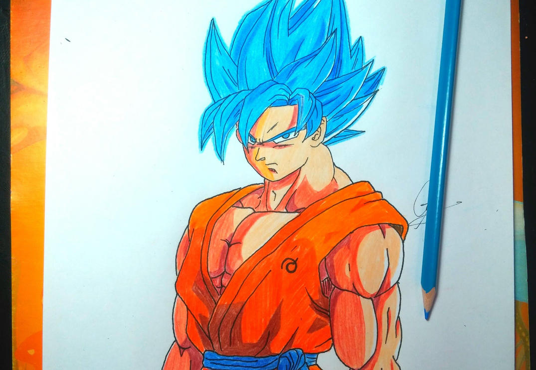 Goku SSJ God Blue By Randy7878 On DeviantArt