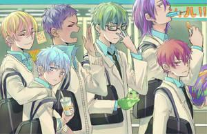 Kuroko and friends by bunnychii