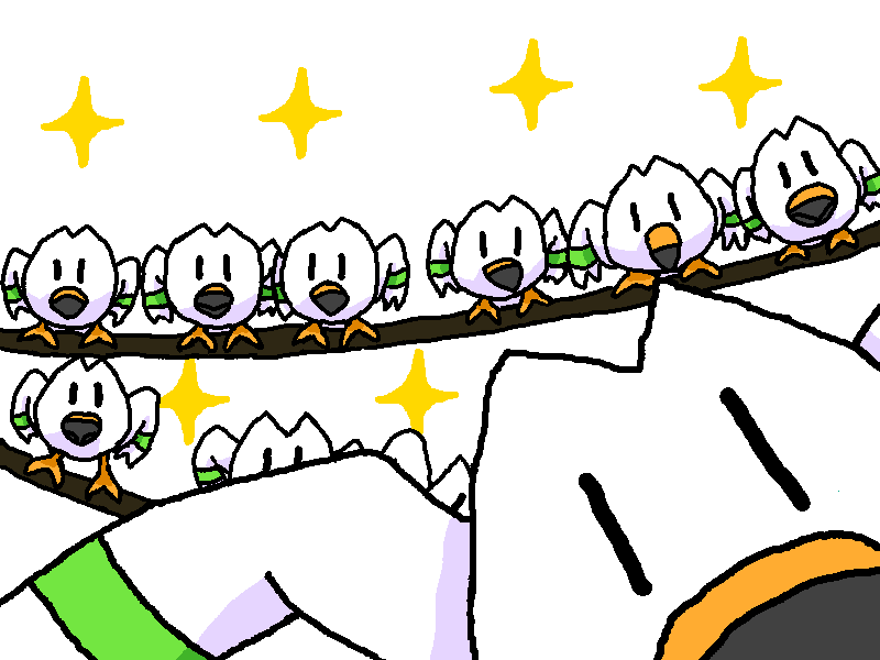 Shiny Wingull + Seagulls (Finding Nemo) by shawarmachine