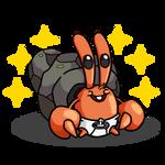 Shiny Dwebble + Baby Mr. Krabs (SpongeBob)