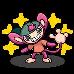 Shiny Aipom + Jake (My Gym Partner's a Monkey)