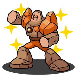 Shiny Regirock + Stone Man (Mega Man Series)