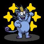 Shiny Meowth + Eek the Cat