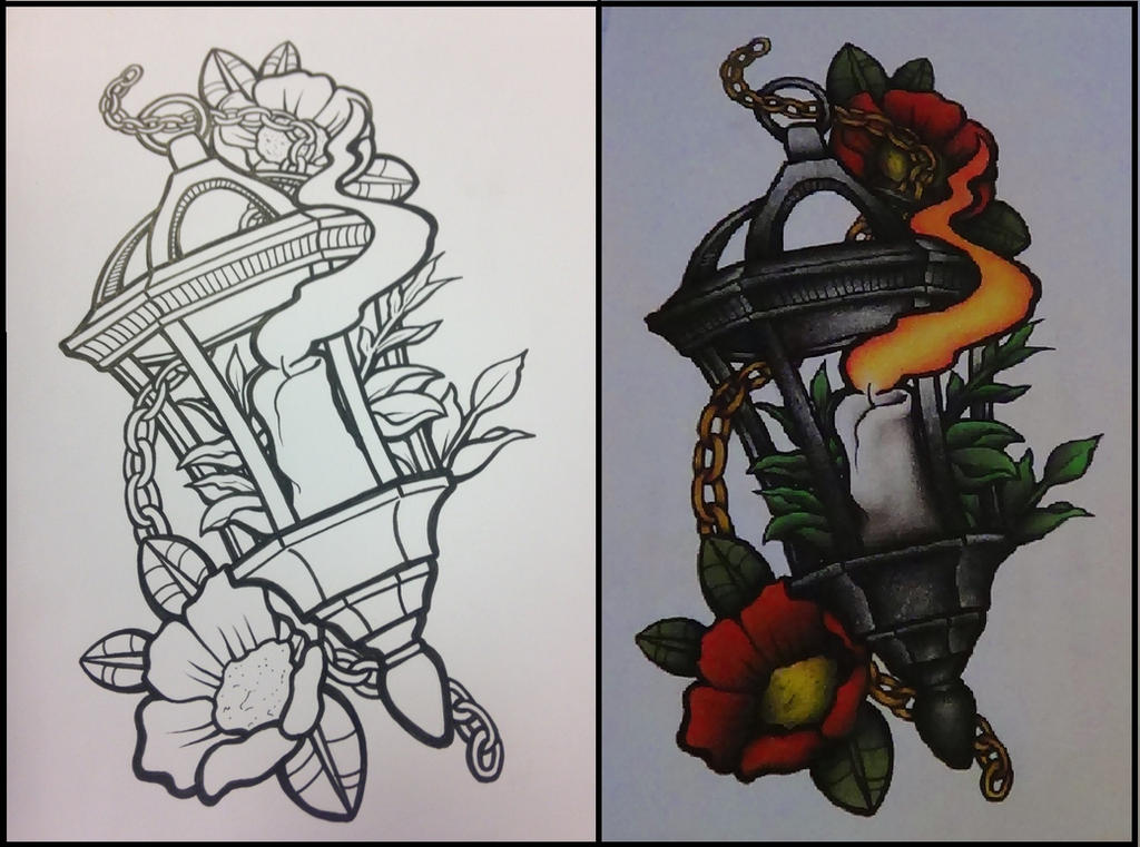 Neo Traditional Art Neo-traditional lantern by