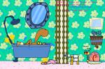 SpongeBob in the Bath...room