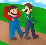 Taking a stroll - Mario and Luigi