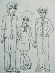 Sabrina, Yuuya and Yoshiki by iedasb