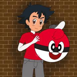 Ash as Ball Guy