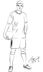 Soccer Player Line Art