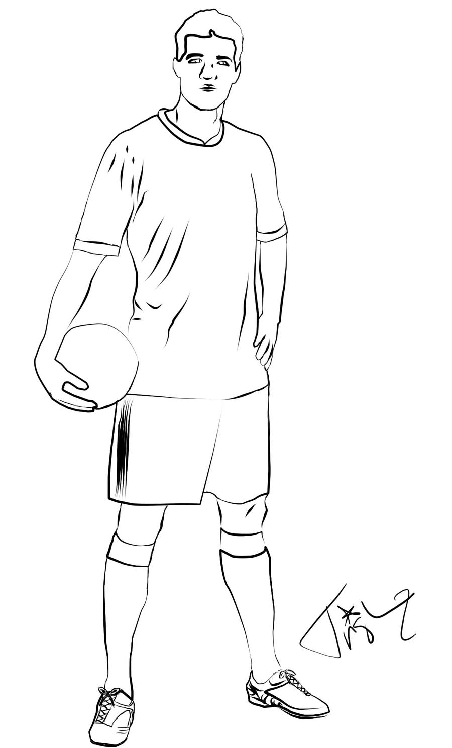 It is a picture of Invaluable Drawing Soccer Players